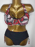 Купальник на большую грудь без поролона Sisianna 39512 черный на 52 54 размер