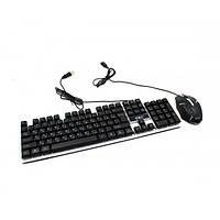 Проводная клавиатура Led и мышь Ukc M-416 (5559), фото 1