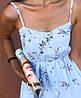 Сарафаны-комбинезоны из креп-шифона .  Размер единый 42-44. Цвета: пудра, голубой, белый, тёмно-синий(5102), фото 4