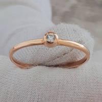 Золотое кольцо помолвочное с фианитом 17.0 10361