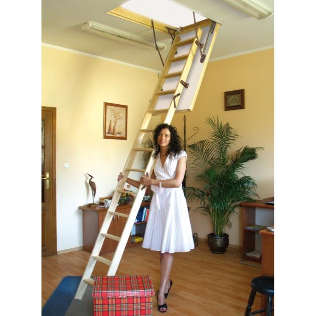 Горищні сходи Benta One з утепленою кришкою 46 мм сосна