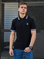 Мужская футболка поло BEZET Original black 2.0 '20, мужское черное поло