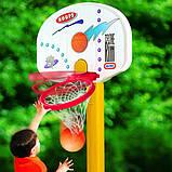 Little Tikes Баскетбольная стойка с кольцом Супербаскетбол до 210 см 433910060 Easy Store Basketball Set, фото 4