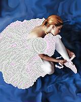 """А3 """"Балерина"""" схема для вышивки бисером"""