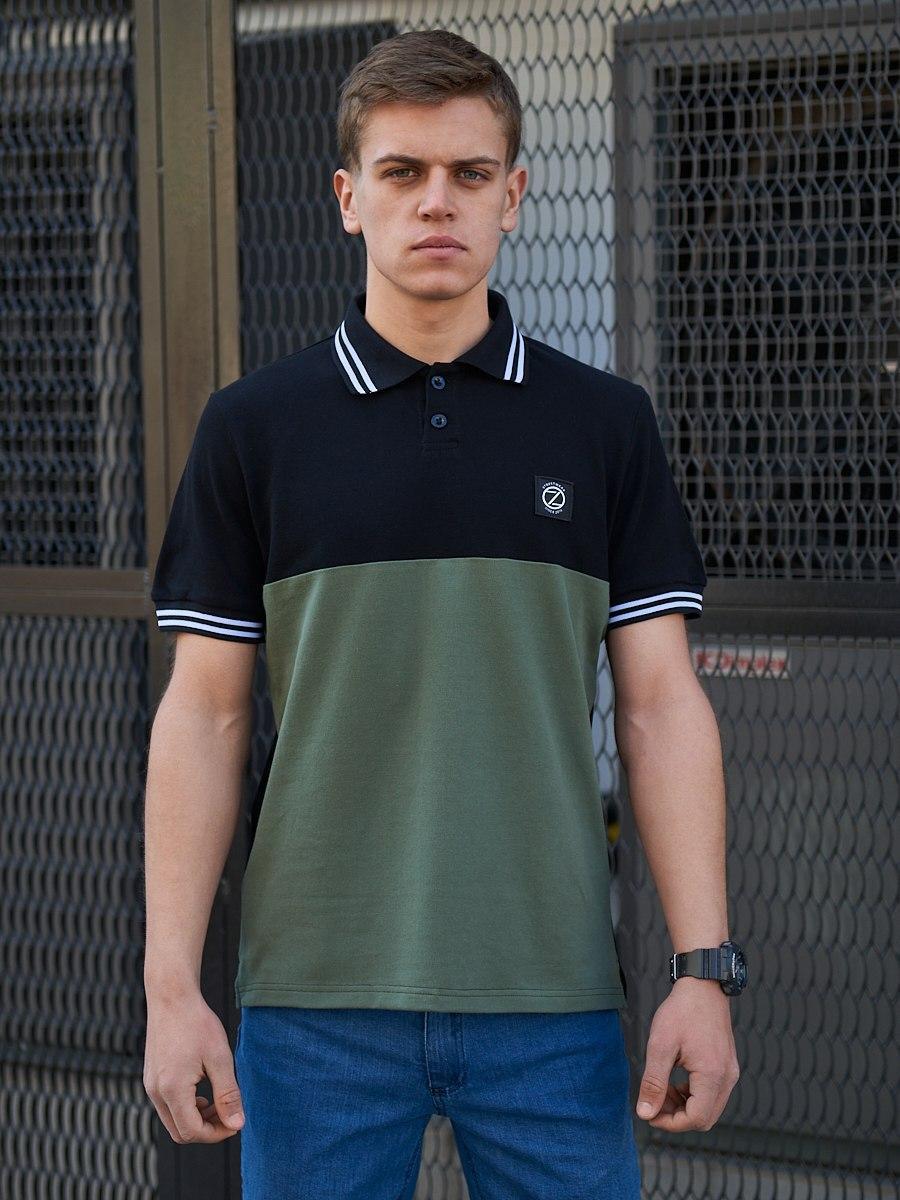 Мужская футболка поло BEZET Original black/khaki 2.0 '20, мужское поло, мужская тениска