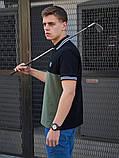 Мужская футболка поло BEZET Original black/khaki 2.0 '20, мужское поло, мужская тениска, фото 4