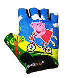 Велорукавички PowerPlay 5473 Peppa Pig S Голубі (5473Pepa_S_Blue), фото 2