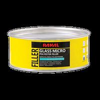 Шпаклівка зі скловолокном GLASS MICRO  0,5кг  RANAL