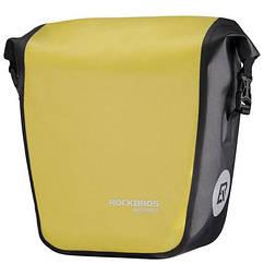 Сумка на багажник водонепроникна жовта NEW