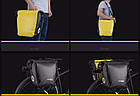 Сумка на багажник водонепроникна жовта NEW, фото 4