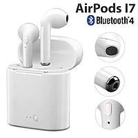 Беспроводные наушники Airpods i7 TWS / Bluetooth наушники + Фитнес браслет в Подарок!