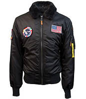 Бомбер Top Gun B-15 Nylon Bomber Jacket With Removable Patches TGJ1732 (Black), фото 1