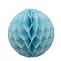 Бумажный шар соты 15 см (голубой), фото 2