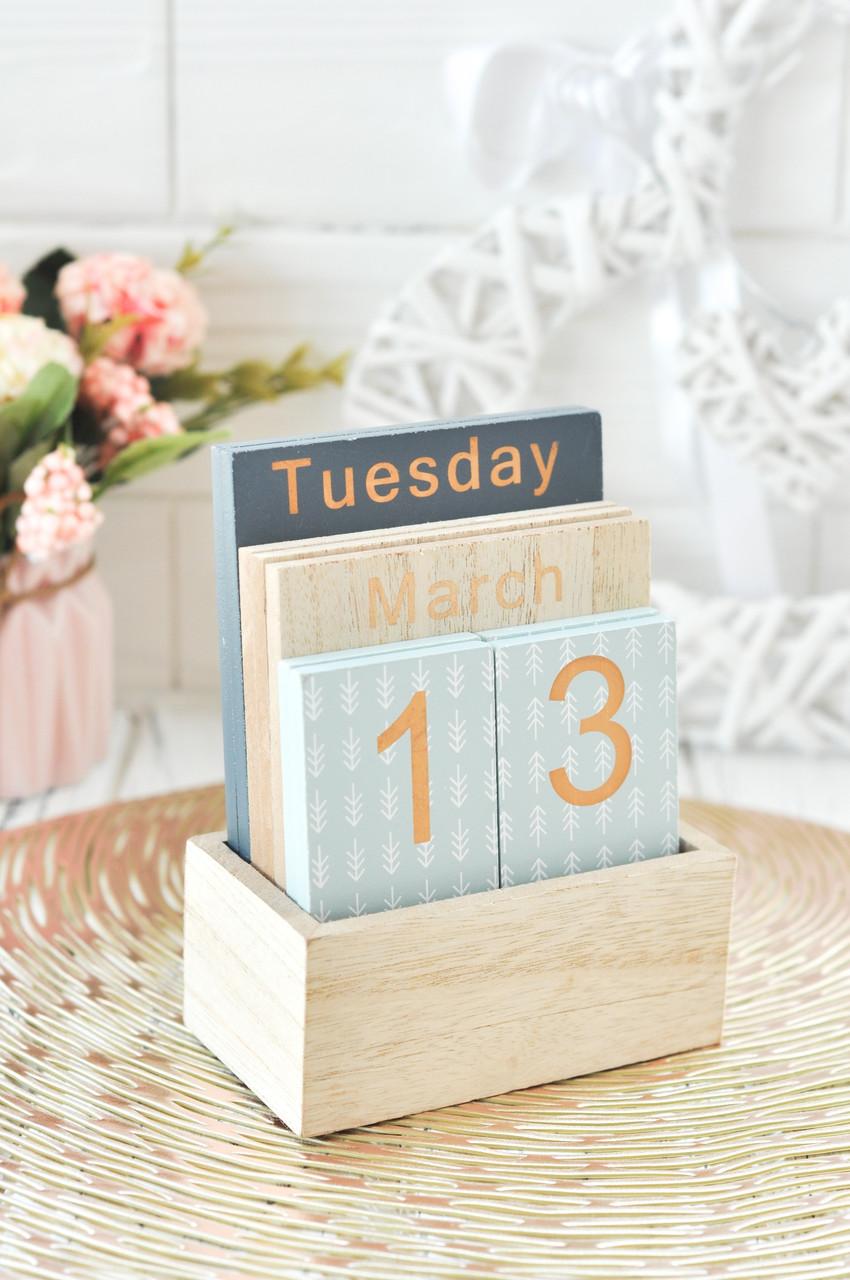 Вечный календарь (11*15*5 см) дерево