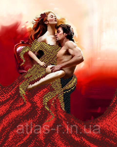 """А3 """"Пылкая любовь"""" схема для вышивки бисером"""