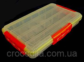 Коробка рыболовная пластиковая с прорезинеными вставками 35*21*5 см