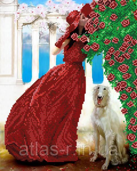 """А3 """"Рожева альтанка"""" схема для вишивки бісером"""
