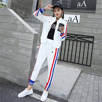 Женский белый спортивный костюм, фото 1