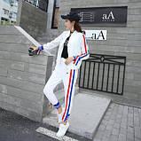 Женский белый спортивный костюм, фото 3