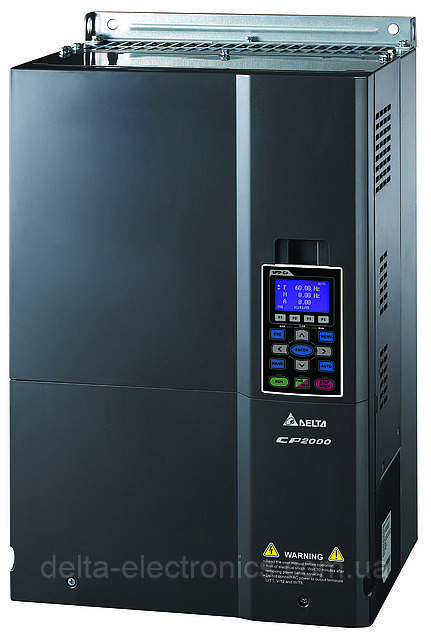 Перетворювач частоти Delta Electronics, 90 кВт, 400В,3ф.,векторний, c ПЛК, VFD900CP43A-21