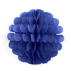Бумажный шар цветок 20см (лазурно-синий)