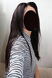Парик натуральный очень густой темно-русый на сетке с имитацией кожи головы, фото 5
