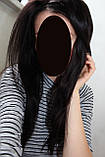 Парик натуральный очень густой темно-русый на сетке с имитацией кожи головы, фото 8