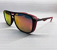 Солнцезащитные очки авиаторы Porsche реплика красный с зеркальной линзой, фото 1