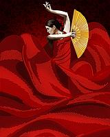 """А3 """"Танец страсти"""" схема для вышивки бисером"""