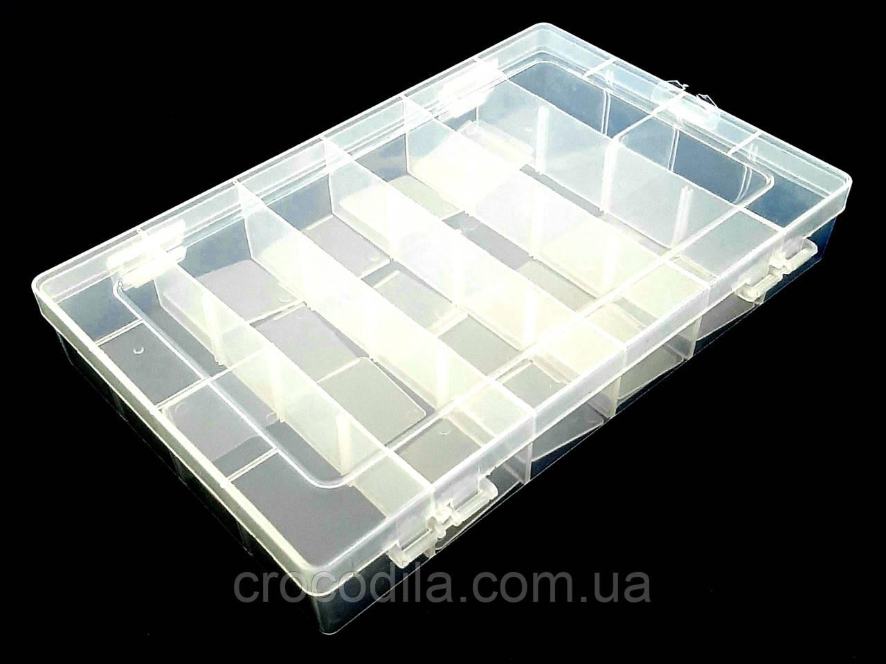 Коробка рыболовная пластиковая  27*14*7см