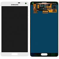 Дисплейный модуль (дисплей + сенсор) для Samsung Galaxy Note 4 N910H, белый, оригинал