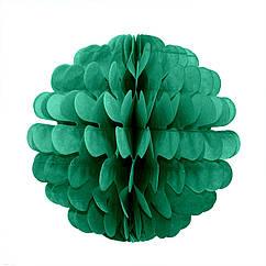 Бумажный шар цветок 20см (малахитовый)