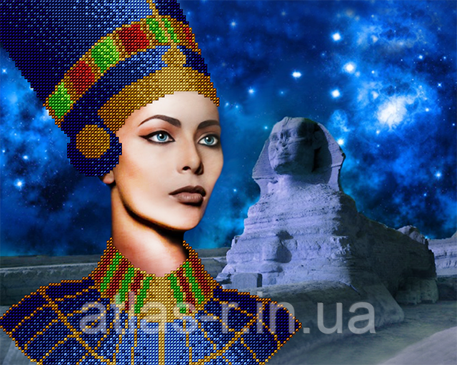 """А3 """"Цариця Єгипту"""" схема для вишивки бісером"""