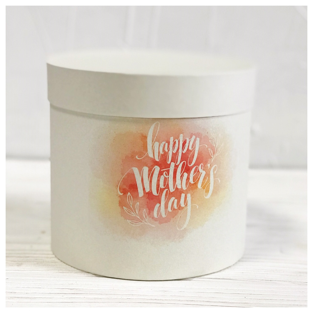 "Шляпная коробка ""Happy Mother's Day""  d16 h15 см"