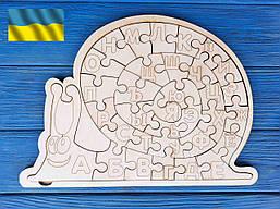 Алфавіт, абетка, пазл російська дерев'яна, равлик