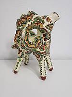 Статуэтка Hand Made Косовская керамика, Горный козел, ручная роспись, 29 х 23 х 17 см