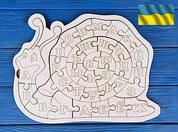 Алфавит, азбука, пазл русский деревянная, улитка