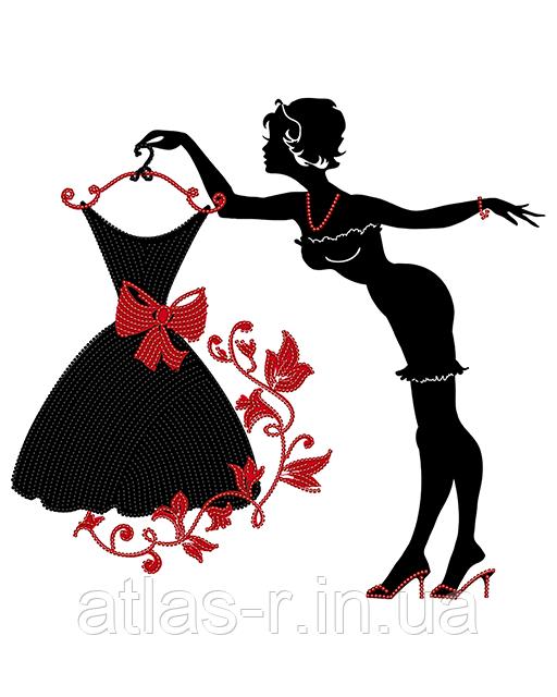 """А3 """"Модниця"""" схема для вишивки бісером"""