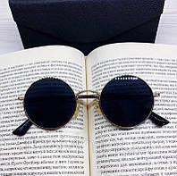 Солнцезащитные круглые очки унисекс с синими линзами, фото 1