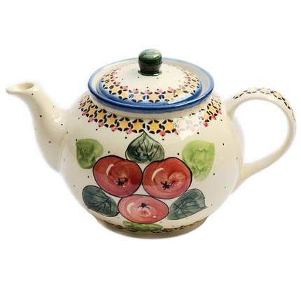 Заварочный керамический чайник 1L Яблука наливні, фото 2