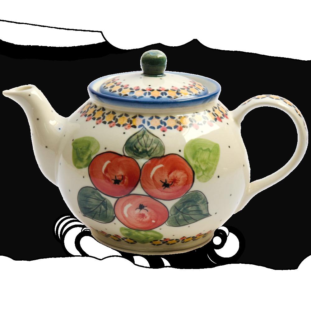 Заварочный керамический чайник 1L Яблука наливні