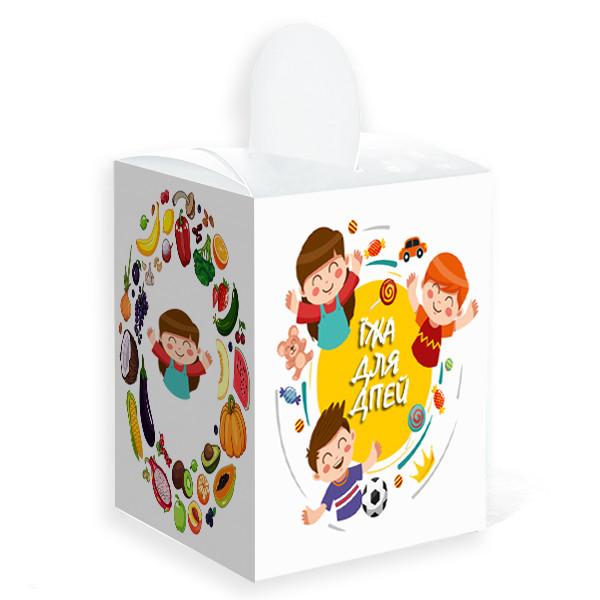 """Картонная упаковка для детской еды """"Кидс Меню"""" мини, 105х115"""