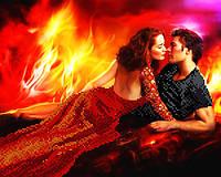 """А3 """"Пламя страсти"""" схема для вышивки бисером"""