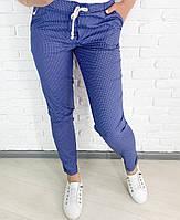 Женские брюки, коттон стрейчевый, р-р 42, 44, 46, 48, 50, 52 (бежевый, джинсовый, тёмно-синий)