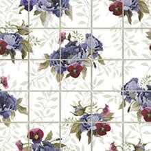 Панель ПВХ 964*484мм Мозаика Фиолетовые цветы (16) (кратно 5 шт)