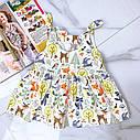 Детское летнее платье Лисята на 1- 3 года, фото 2