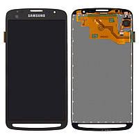 Дисплейный модуль (дисплей + сенсор) для Samsung Galaxy S4 Active i9295, черный, оригинал