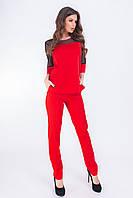 Женский костюм  арт. 153 батал  красный, фото 1