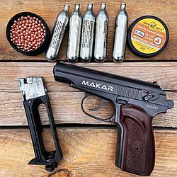 Пневматический пистолет Макарова ZBROIA Makar Blowback + 5 CO2 + 400 BB 4.5 мм