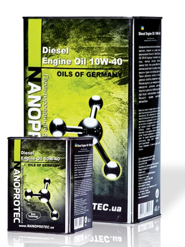 Полусинтетическое моторное масло Nanoprotec Diesel engine oil 10w-40